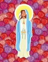 wundersame Annahme der Jungfrau Maria vektor