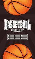 Basketball- und Sportmeisterschaftsplakat vektor