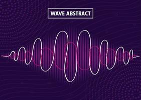 abstrakt bakgrund med ljudvågor vektor