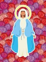 mirakulösa antagande av jungfru Maria vektor