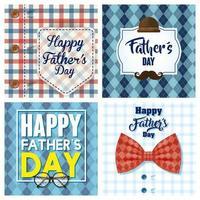glücklicher Vatertags-Kartensatz mit männlichen Hemden vektor