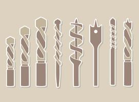 Metall Auger Sammlung Vektor