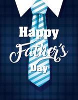 lycklig fars dag banner med antika manliga ikoner vektor