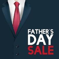 fader dag försäljning banner med elegant manlig kostym vektor