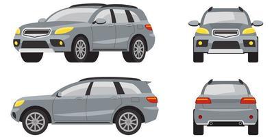 SUV i olika vyer vektor