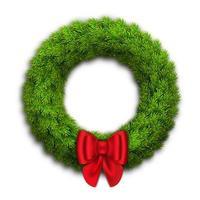 Weihnachtskranz mit Tannenzweigen vektor