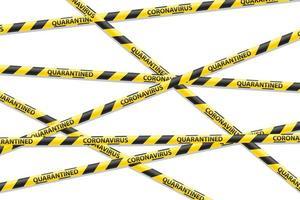 gestreiftes Sicherheitsband, das den Durchgang verhindert vektor