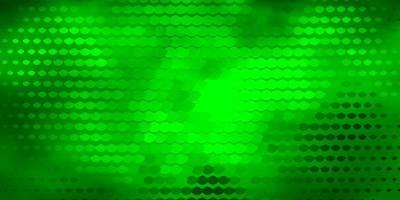 mörkgrön bakgrund med cirklar.