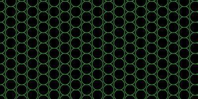 mörkgrönt mönster med sfärer. vektor