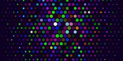 flerfärgad mall med cirklar.