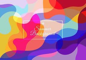 abstrakt färgstark bakgrund som består av flytande våg. vektor