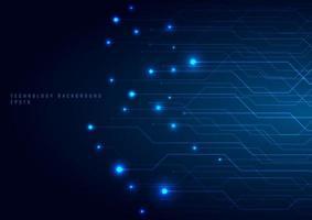 futuristische Konzeptlinie und Knoten der abstrakten Technologie vektor