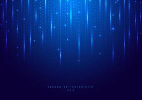 abstrakte Technologie digital futuristisch verschiedene Neonlicht vektor