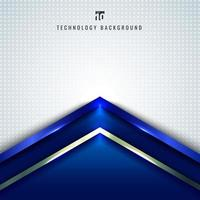 abstrakt teknologikoncept blå metallisk vinkelpil vektor