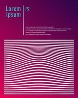 mall affisch design vita linjer ränder vektor