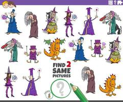 finde zwei gleiche Fantasy-Charaktere