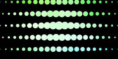 mörkgrön mall med cirklar.