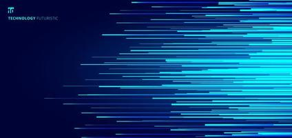 abstrakt glödande blå horisontella linjer mönster vektor