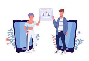 Online-Dating-App vektor