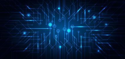abstrakt teknik futuristiskt koncept för blå elektronisk krets vektor