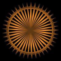 abstrakte Räder Spirograph auf schwarzem Hintergrund