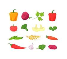 färska grönsaker set