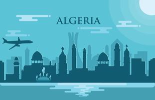 Algeriet Vektor illustration