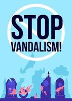 stoppa vandalism affisch vektor