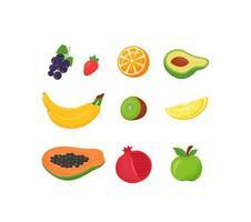 frisches Obst gesetzt vektor