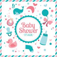 Babyshower-Vektor-Illustration