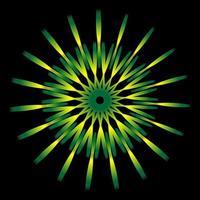 abstrakter Mandala-Spirograph auf schwarzem Hintergrund
