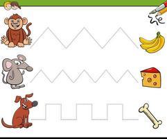 Trace Lines Schreibfähigkeiten Arbeitsmappe für Kinder vektor