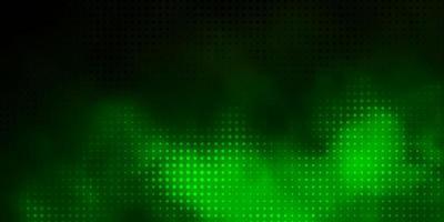 dunkelgrünes Muster mit Kugeln.