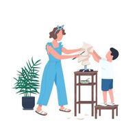 Familienskulptur zusammen vektor