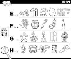 erster Buchstabe einer Wortaktivität für Kinder