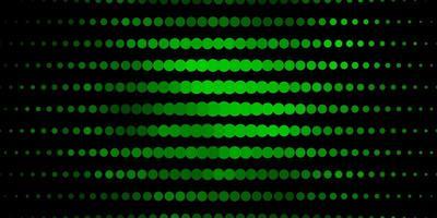 mörkgrön bakgrund med cirklar. vektor