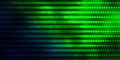 dunkelgrüner Hintergrund mit Kreisen.