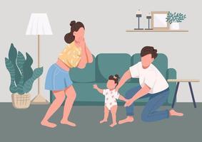 familjens lyckliga stunder vektor