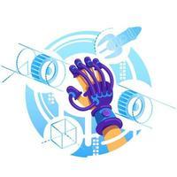 vr handske 2d banner vektor