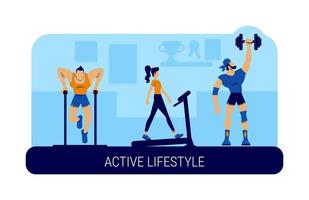 aktiv livsstil banner vektor