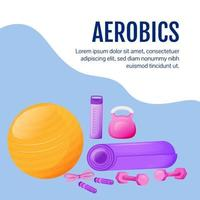 aerobics sociala medier post mockup vektor