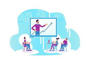 dataanalys och kodning online-lektion vektor