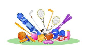 olika sportutrustning vektor
