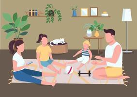 familjebindning på golvet vektor