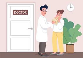 läkare med patient