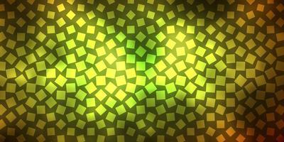 dunkelgrüner, gelber Hintergrund mit Rechtecken.