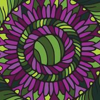 Zentangle Mandala Fliese. vektor