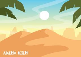 Algerien-Wüsten-Illustration