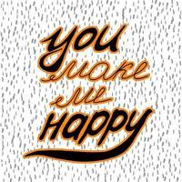Du machst mich glücklich. vektor