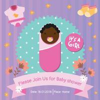 Inbjudningskort för baby shower vektor